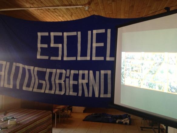 encuentro de Giap con la escuela de autogobierno mapuche